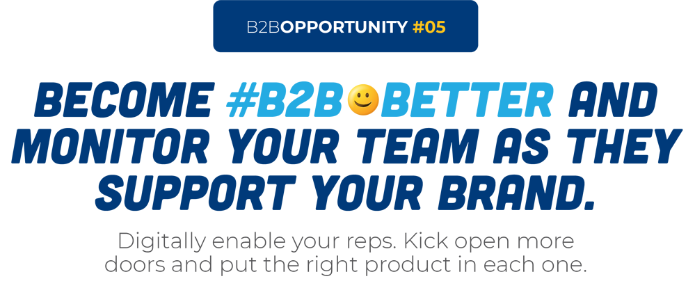 Become #B2B😀Better And Monitor Your Team As They Support Your Brand.