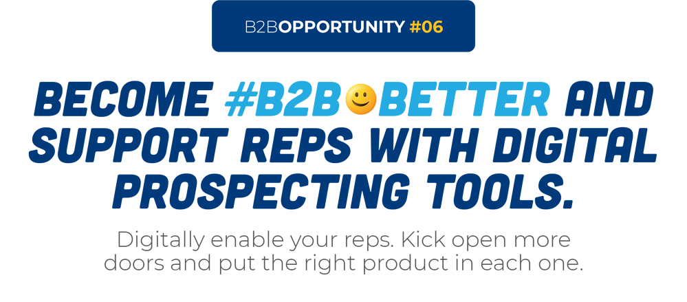 Become #B2B😀Better And Support Reps With Digital Prospecting Tools.