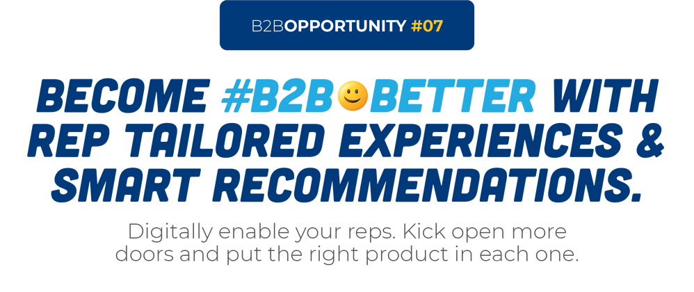 Become #B2B😀Better With Rep Tailored Experiences & Smart Recommendations.